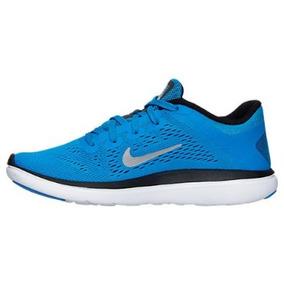 Zapatos Nike Flex Run 100% Originales Talla 37.5 Unisex Azul