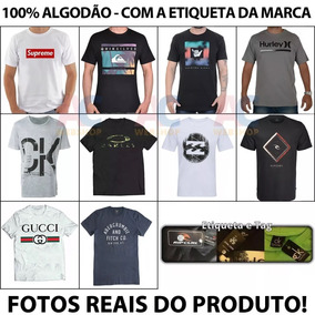 08 Camisas Masculina /camiseta/marcas Famosas.