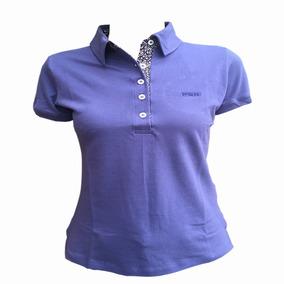00ebe9d104 Camiseta Polo Feminina Country Pbr Azul Pbr029f