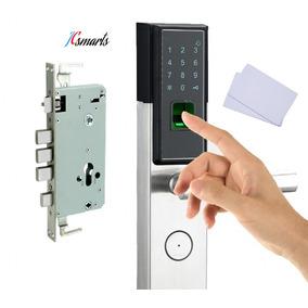 Fechadura Biométrica 4 Trancas Lado Direito+ Senha+ Tags