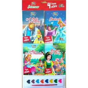 32 Livros De Colorir Com Aquarela - Contos E Cores - Cedic