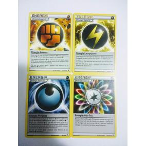 Cartas Pokemon 4 Energias Especias + 8 Energias Foil