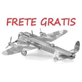 Bombardeiro Airplane Lancaster Metal 3d Miniatura Frete Grat