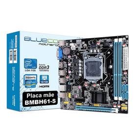 Placa Mãe Lga 1155 Bluecase H61 C/ Hdmi Até16gb Nova!!