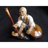 Figura De Porcelana Antigua Pescador A Mano Escultura