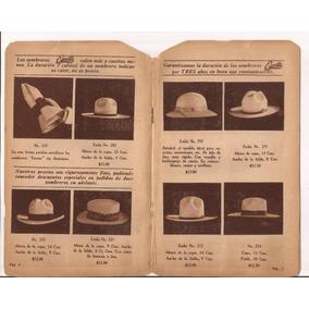 Antiguo Y Raro Catálogo De Sombreros Mexicanos Marca Escoto ee36ccff7a5