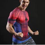 Camisa Compressão Heróis Marvel Dc