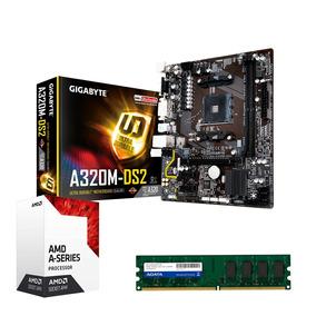 Kit Gamer Gigabyte Ga A320m-ds2 Am4 + A10 9700 + 4gb Ddr4