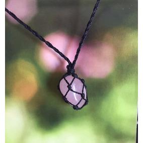Colar De Pedra Hippie Quartzo Rosa (pedra Do Amor)
