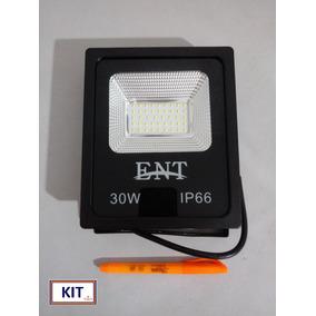 Kit C/02 Refletor Led Slim 30w 6500k Ip65 Bivolt Taytec