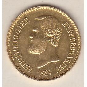 Moeda De Ouro 20.000 Réis 1852 Sob 17,92 Gr 30 Mm R$ 4.200,0