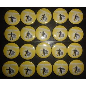 Botons Setembro Amarelo - 20 Unidades 4,5 Cm
