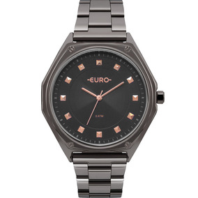 Relogio Euro Feminino Grafite Euro - Relógios De Pulso no Mercado ... 2051818263