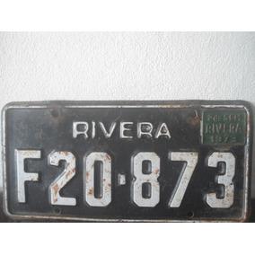 Antigua Chapa Matricula Rivera