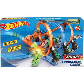Brinquedo Lacrado Hot Wheels Espiral De Batidas Ftb65