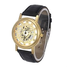 b06adb2bfda Relógio Masculino Luxo Quartz Esqueleto Frete Grátis  1