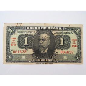 Cédula Antiga C001 Mil Réis Autografada 1 Cruzeiro 1944 Lo69