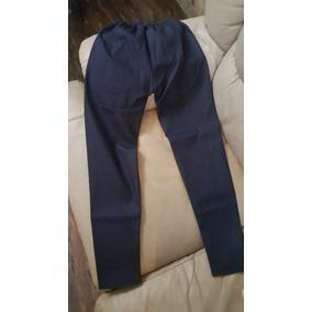 Pantalon Leggins Dama Mujer Ropa Talla L Strech Azul Oscuro