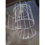 Jaula Decorativa Bodas 14.5 Cm De Diametro X22 Alto 1 Pza