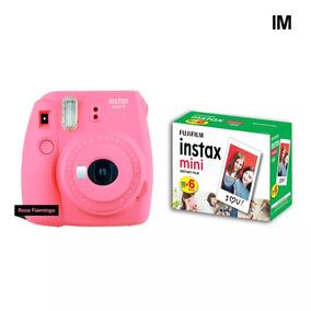 Camera Instax Fuji Mini 9 Rosa Flamingo + 60 Fotos+nf