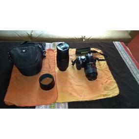 Camara Reflex Nikon D3100 + Lente 18-55 + Lente 70-300 + Bol