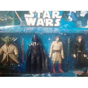 Kit 04 Bonecos Articulados Star Wars + 7 Acessórios Promoção