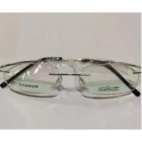 c52ccb8fd1f9b Armação Óculos Grau Silhouette Beta Titanium Flexivel Prata - Óculos ...