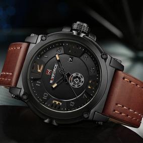 Relógio Masculino Esportivo Naviforce 9099 Pulseira D Couro