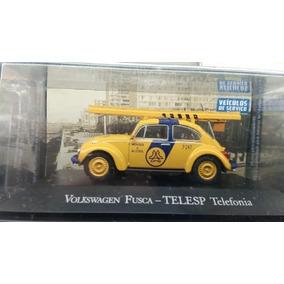 Fusca Telesp - Miniatura 1:43 Veículos De Serviço