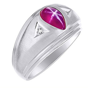 eb64a432826d Timeless Forma De Pera Estrella De Rubi Y Anillo De Diamante