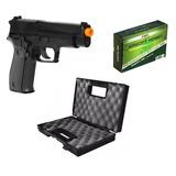 Pistola Airsoft P226 Spring Kwc + Maleta + Bbs + Nota Fiscal