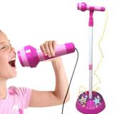 Microfono Pedestal Niña Mp3 Karaoke Superstar