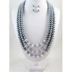 e9631f8ee6d9 Collar De Perlas De Tres Vueltas en Mercado Libre México