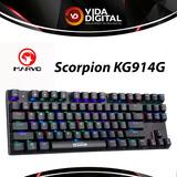 Teclado Gaming Mecánico Marvo Scorpion Kg914g Rgb/blueswitch