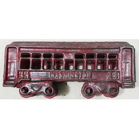 Miniatura Metal Trem Antigo Prr Ferro Vagão Passageiro Carga