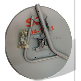 2 Antenas Ku 60cm+2 Lnb Duplo+ 2kit Cabo+conector+fixa Fio