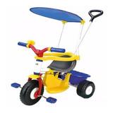 Triciclo Metalico Con Techo Barral Agarre Paseo 3510 Rondi