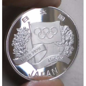 Moeda Prata Entrega Bandeira Olimpica Rio 2016 - Tokyo 2020