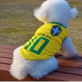 Roupa Pet Camiseta Brasil Cão E Gato