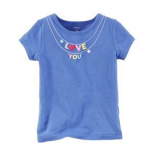 Playera Azul I Love You Carters Talla 3