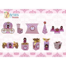 Kit: 100 Lembrancinhas Personalizadas - Realeza Menina