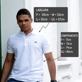 Camisa Pólo Branca Lacoste Tamanho Médio Equivale Ao 3 - Pólos Manga ... 52c27919b9d77