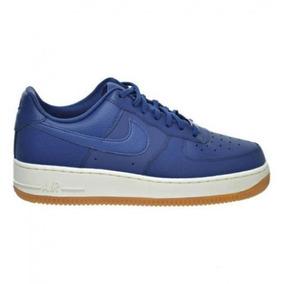 Tênis Nike Air Force 1 07 Azul Couro Original