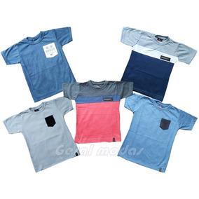 Kit 05 Camisas Infantil Juvenil Cores Variadas Oferta 2- 16