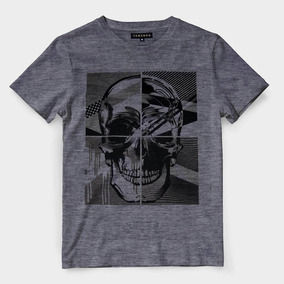 Camisa Caveira Estampada Masculina Camiseta Barata 660adc6cb69