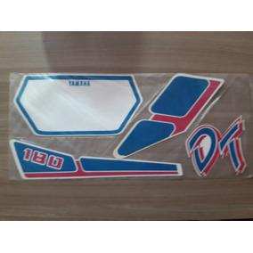 Jogo Adesivo Yamaha Dt180 Z 91 Branco/azul (jotaesse)