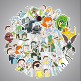 Rick Y Morty 100 Calcomanias Stickers Pvc Impermeables
