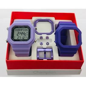 Relógio Champion Yot Kit Original Lilás E Roxo Cp40180x