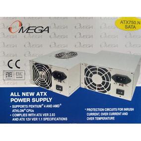 Fuente De Poder Atx 750w Omega 20+4 Pines + Sata + Original