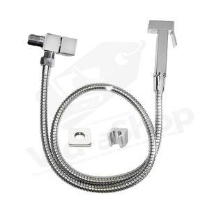 Ducha Higienica Metal Inox 1/4 Volta Registro Quadrado 1,20m